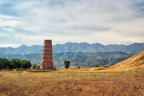 Burana Tower nær Bishkek, Kirgisistan, tatt i august 2018