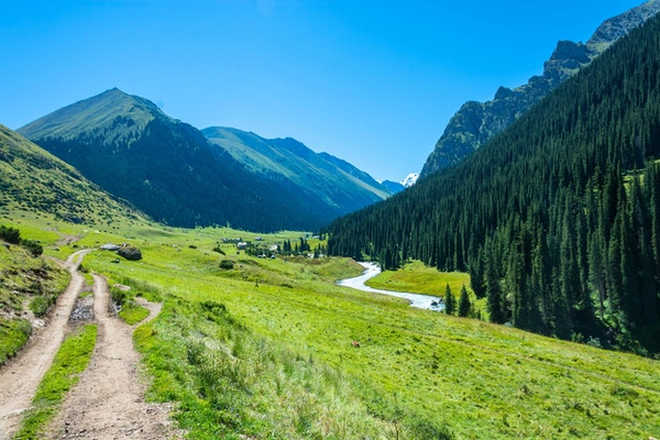 Altyn-Arashan i Kirgisistan.
