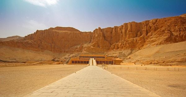Templet til Hatshepsut nær Luxor i Egypt