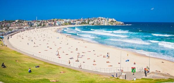 En av de mest berømte strendene i verden – Bondi Beach.