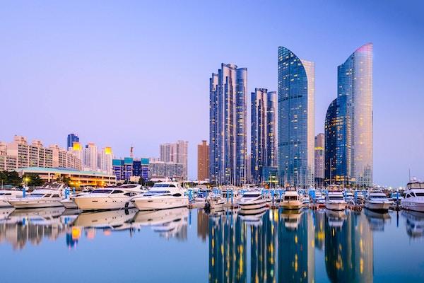 Skyskrapere i Busan, Sør-Korea.