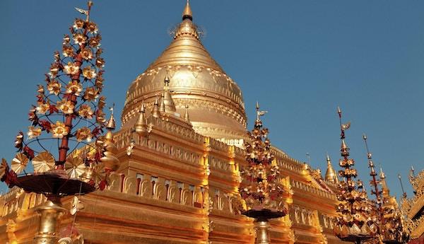 Shwezigon Pagoda er et av de største religiøse stedene i Bagan