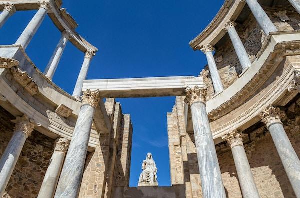 Det romerske teatret i Mérida (Spania) ble bygget i det første århundre e.Kr.
