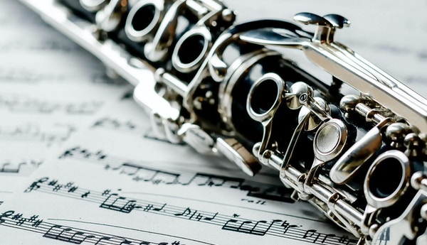 Del av en tysk klarinett