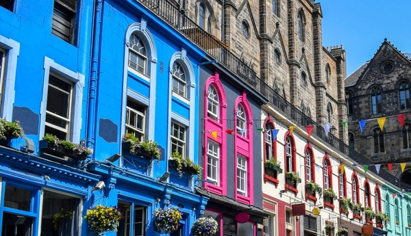 Nydelig bilde om Victoria st i Edinburgh. Skottland.