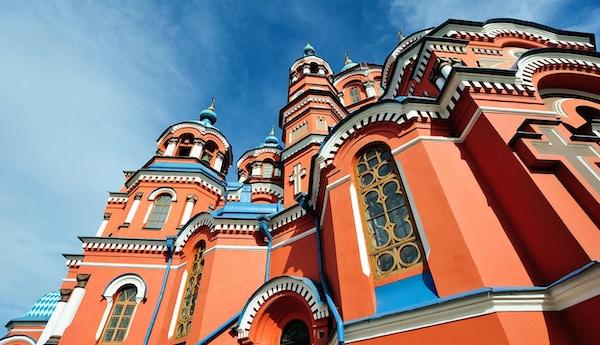 Vår frue katedral fra Kazan i Irkutsk, Russland.