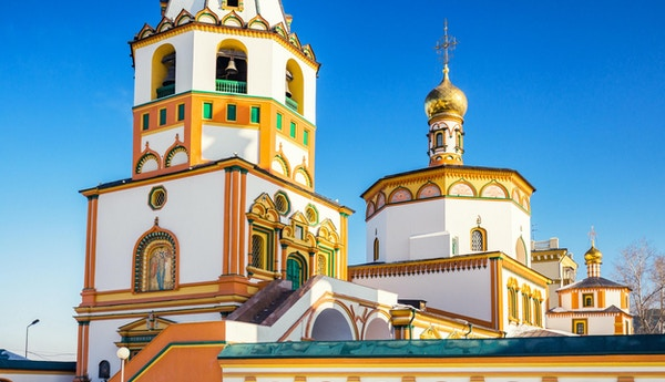 Den ortodokse katedralen i Irkutsk