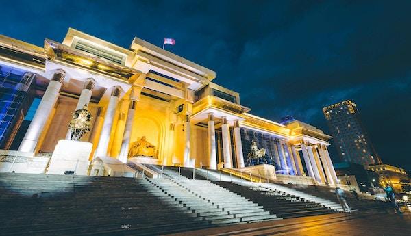 mongolia parlament hovedstad ulaanbaatar sentrum