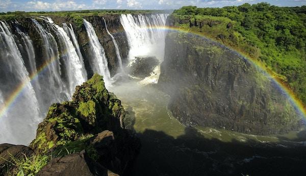 Victoriafallene i Zimbabwe.