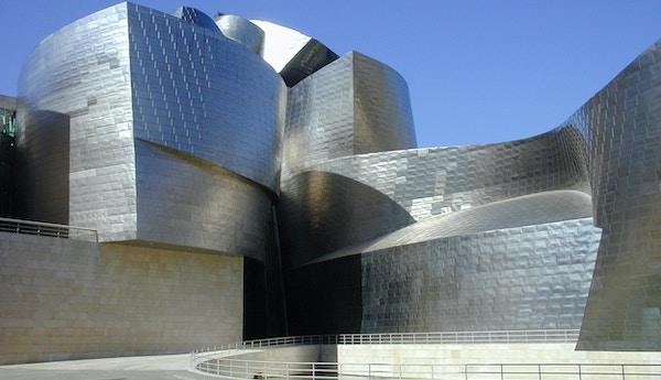 Guggenheim-museet i Bilbao, Spania.