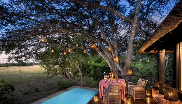 Private plunge pool and deck at andbeyond phinda vlei lodge 1