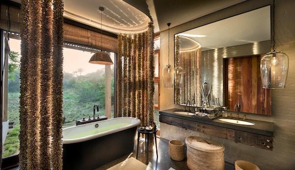 Bathroom views at andbeyond phinda homestead