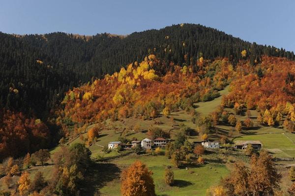 Svaneti, fjellandskap i høstfarger