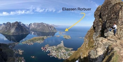 Lokalisering av Eliassen Rorbuer i Lofoten