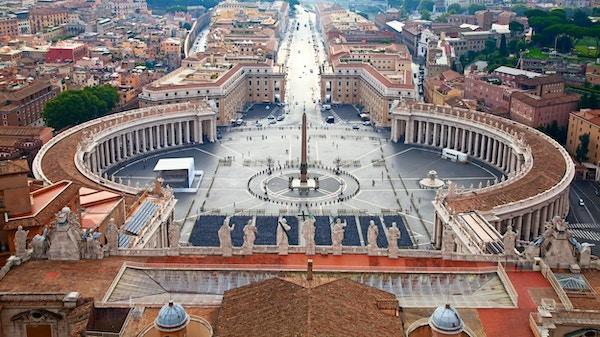 Den ikoniske Petersplassen.