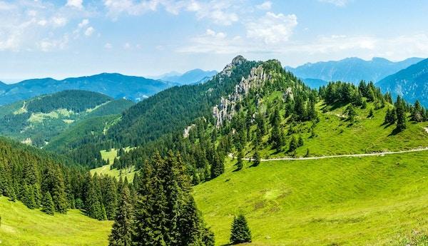 utsikt fra fjellet puerschling nær Oberammergau