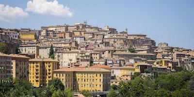 En utsikt over den gamle byen Perugia (Umbria), Italia.