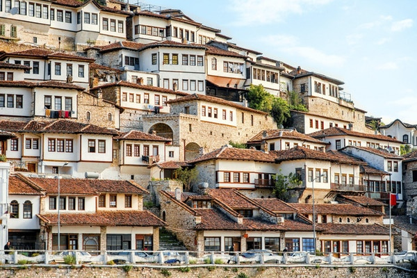 Historisk by Berat i Albania, verdensarvsted av UNESCO
