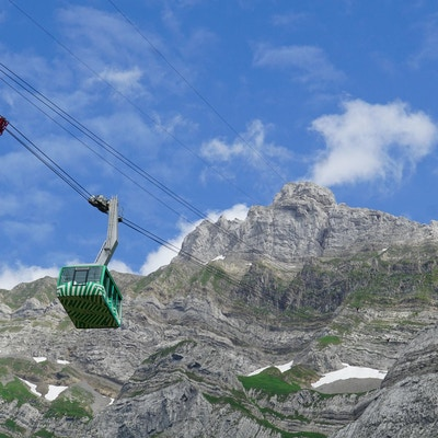 Gondolbane til fjelltoppen Säntis på 2500 moh.