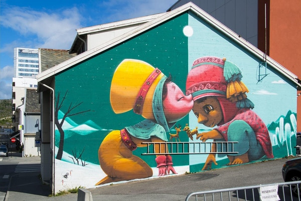 Dekorativ vegg i Bodø