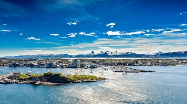Panoramabilde over Bodø havn