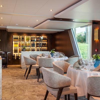 Resturanten på elvecruiseskipet Amadeus Imperial