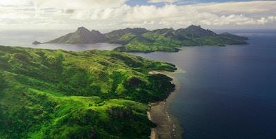 Luftfoto av Fiji-øyene