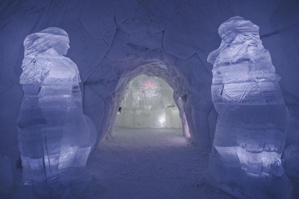 Inngangen til Tromsø Ice Domes.