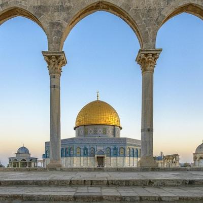 Klippekuppelen (Qubbet el-Sakhra) er en av de største islamske monumentene, den ble bygget av Abd el-Malik, Jerusalem, Israel