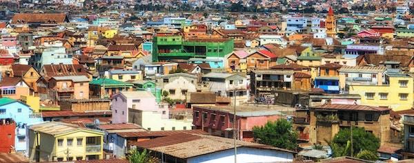Oversikt over Soweto (South Western Townships), Johannesburg, Sør-Afrika.