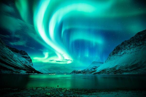 Finn nordlyset i norge
