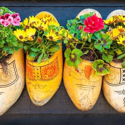 Tresko med blomster.