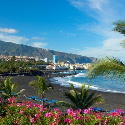 """""""Jardin strand, Puerto de la Cruz, Tenerife, Spania"""""""