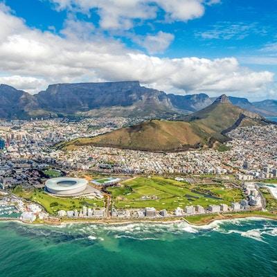 Cape Town og de 12 apostlene fra oven i Sør-Afrika