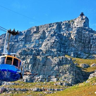 Taubane opp til Table Mountain.