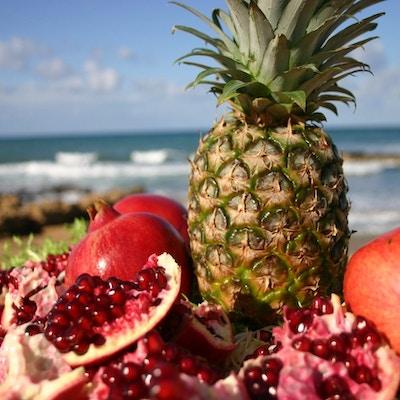 Kypros mat frukt strand