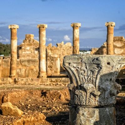 House of Theseus, romerske villaruiner ved Kato Paphos arkeologiske park, Paphos, Kypros