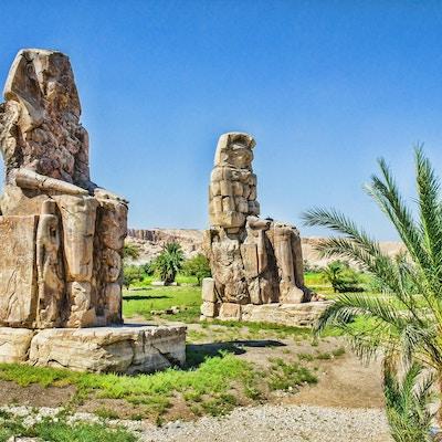Colossi of Memnon, Valley of Kings, Luxor, Egypt, 2012 år
