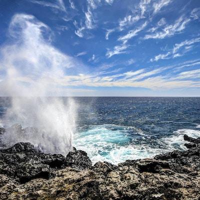 Havet viser krefter