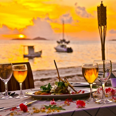 Middag på stranden