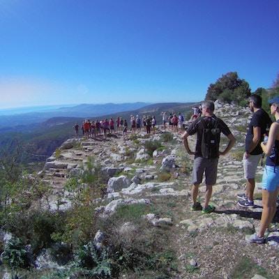 Mennesker, fjell, utsikt