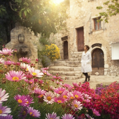 Vakre blomster i solen