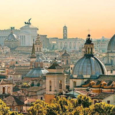 Oversiktsbilde over Roma.