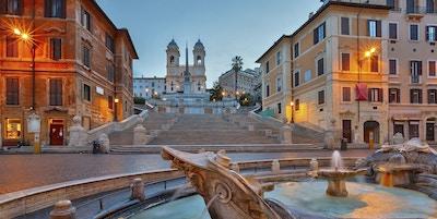 Spansketrapper i skumringen, Roma, Italia