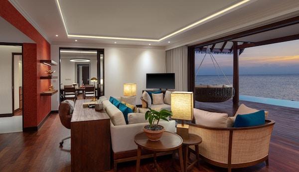 Interiør i luksusvilla på Maldivene