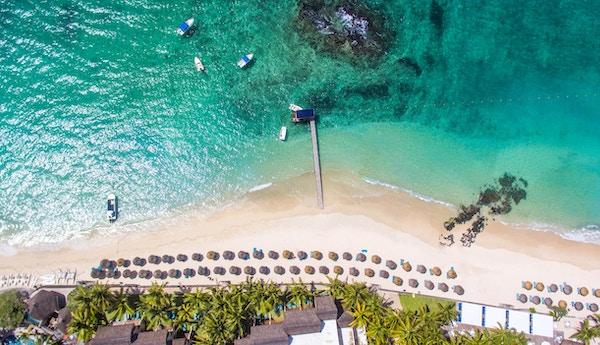 luftfoto av strand og hav