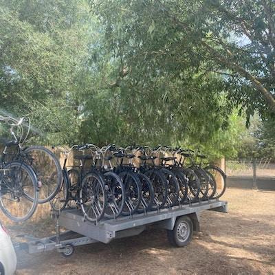 Sykler, følgebil
