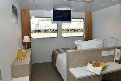 En lugar på hoveddekket ombord på skipet MS Loire Princess
