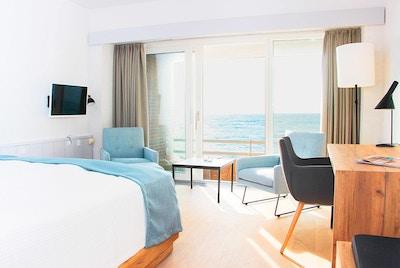 Dobbeltrom med balkong og havutsikt, Griffen Spa Hotel