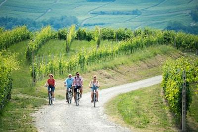 Familieferie i Langhe-regionen, Piemonte, Italia: Familietur på elektriske sykler i åsene